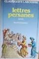 Couverture Lettres persanes Editions Larousse (Classiques) 1984