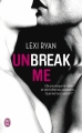 Couverture Unbreak me, tome 1 Editions J'ai Lu 2015