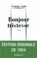 Couverture Bonjour tristesse Editions Julliard (Roman) 2014