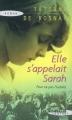 Couverture Elle s'appelait Sarah Editions Succès du livre (Confort) 2008