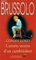 Couverture Carnets secrets d'un cambrioleur Editions Librairie des  Champs-Elysées  (Le club des masques) 1998