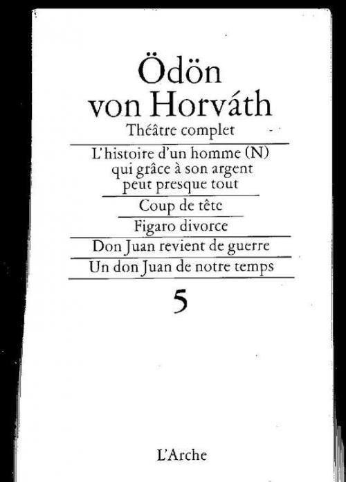 Couverture Théatre Complet, tome 5