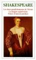 Couverture Les Deux gentilshommes de Vérone, La Mégère apprivoisée, Peines d'amour perdues Editions Flammarion (GF) 1965