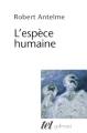 Couverture L'Espèce humaine Editions Gallimard  (Tel) 2012