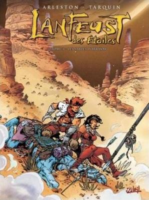 Couverture Lanfeust des étoiles, tome 3 : Les sables d'Abraxar