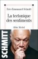 Couverture La tectonique des sentiments Editions Albin Michel 2007