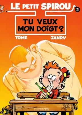 Couverture Le petit Spirou, tome 02 : Tu veux mon doigt ?
