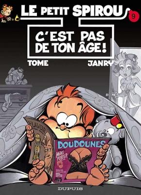 Couverture Le petit Spirou, tome 09 : C'est pas de ton âge !