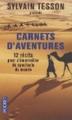 Couverture Carnets d'aventures Editions Pocket 2014