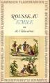 Couverture Emile ou de l'éducation Editions Garnier Flammarion 1966