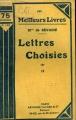 Couverture Lettres Editions Fayard (Les Meilleurs Livres) 1940