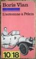 Couverture L'automne à Pékin Editions 10/18 1976