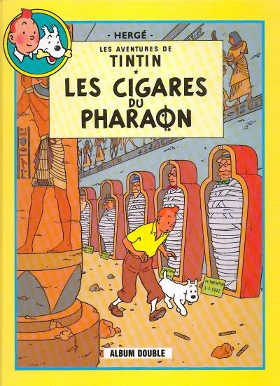 Couverture Les aventures de Tintin (France Loisirs), tome 02 : Les Cigares du pharaon, Le Lotus bleu