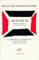 Couverture Richard III Editions Gallimard  (Le manteau d'Arlequin) 1995
