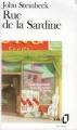 Couverture Rue de la sardine Editions Folio  1992