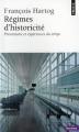 Couverture Régimes d'historicité Editions Points (Histoire) 2003