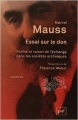 Couverture Essai sur le don Editions Presses universitaires de France (PUF) (Quadrige) 2012