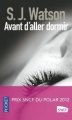 Couverture Avant d'aller dormir Editions Pocket 2012