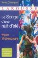 Couverture Le songe d'une nuit d'été Editions Larousse (Petits classiques) 2014