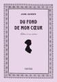 Couverture Du fond de mon coeur : Lettres à ses nièces Editions Finitude 2015