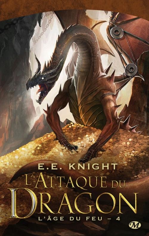 Couverture L'âge du feu, tome 4 : L'attaque du dragon