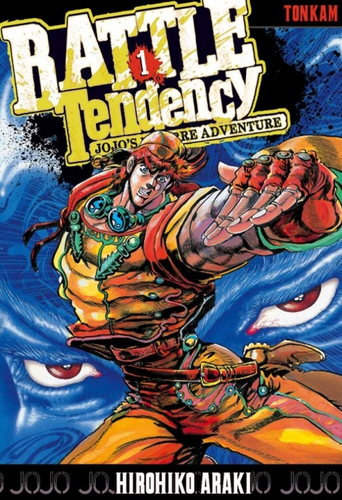 Couverture Jojo's Bizarre Adventure, saison 2 : Battle Tendency, tome 1 : JoJo contre la forme de vie ultime