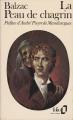 Couverture La peau de chagrin Editions Folio  1978