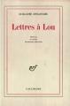 Couverture Lettres à Lou Editions Gallimard  (Blanche) 1969