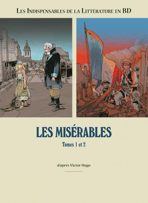 Couverture Les indispensables de la littérature en BD, double, tome 3 : Les Misérables, tomes 1 et 2