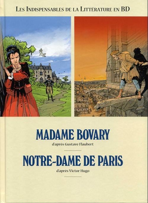 Couverture Les indispensables de la littérature en BD, double, tome 7 : Madame Bovary, Notre-Dame de Paris