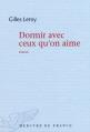 Couverture Dormir avec ceux qu'on aime Editions Mercure de France 2012