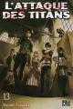 Couverture L'attaque des titans, tome 13 Editions Pika (Seinen) 2015