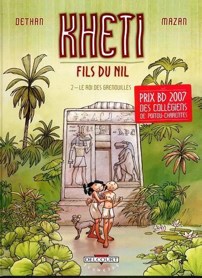 Couverture Kheti fils du Nil, tome 2 : Le roi des grenouilles