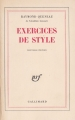 Couverture Exercices de style Editions Gallimard  (Blanche) 1947
