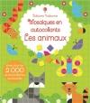 Couverture Mosaïques en autocollants : les animaux Editions Usborne 2015