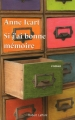 Couverture Si j'ai bonne mémoire Editions Robert Laffont 2015