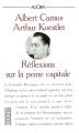 Couverture Réflexion sur la peine capitale Editions Pocket (Agora) 1991