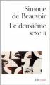 Couverture Le deuxième sexe, tome 2 : L'expérience vécue Editions Folio  (Essais) 1976