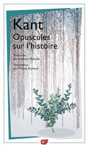 Couverture Opuscules sur l'histoire