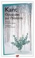 Couverture Opuscules sur l'histoire Editions Flammarion (GF) 2014