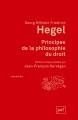 Couverture Principes de la philosophie du droit Editions Presses universitaires de France (PUF) (Quadrige) 2013