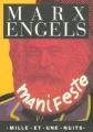 Couverture Manifeste du parti communiste Editions Mille et une nuits 1994