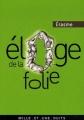 Couverture Eloge de la folie Editions Mille et une nuits 2006
