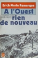 Couverture A l'ouest, rien de nouveau Editions Le Livre de Poche 1994