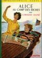 Couverture Alice au camp des biches Editions Hachette (Bibliothèque verte) 1957