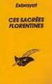 Couverture Ces sacrées Florentines Editions Le Masque 1984