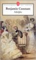 Couverture Adolphe Editions Le Livre de Poche (Classiques de poche) 1988