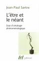 Couverture L'être et le néant Editions Gallimard  (Tel) 1976
