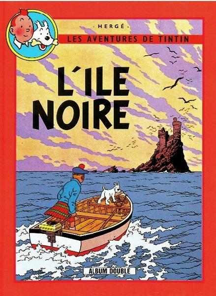 Couverture Les aventures de Tintin (France Loisirs), tome 03 : L'île noire, L'étoile mystérieuse