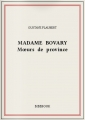 Couverture Madame Bovary Editions Bibebook 2014